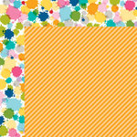 Bella Blvd - Color Chaos Collection - 12 x 12 Double Sided Paper - Orange Strandz