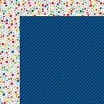 Bella Blvd - Color Chaos Collection - 12 x 12 Double Sided Paper - Blueberry Strandz