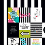 Bella Blvd - Color Chaos Collection - 12 x 12 Double Sided Paper - Words of Wisdom