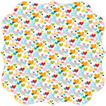 Bella Blvd - Color Chaos Collection - Invisibles - 12 x 12 Die Cut Paper - First Love