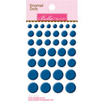 Bella Blvd - Color Chaos Collection - Enamel Stickers - Dots - Blueberry