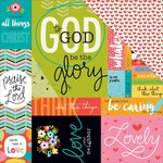Bella Blvd - Illustrated Faith - Whatever is Lovely Collection - 12 x 12 Double Sided Paper - Art Prints