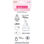Bella Blvd - Hampton Art - Love and Marriage Collection - Cling Mounted Rubber Stamps