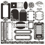 Black Market Paper Society - Ebony and Alabaster Collection - Underground Tag Elements
