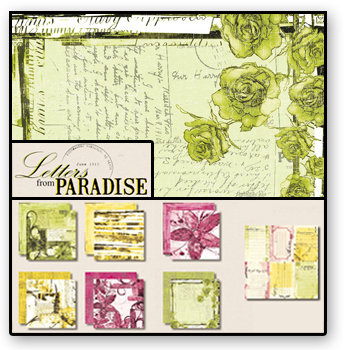 Black Market Paper Society - Letters from Paradise - Paper Collection Pack, CLEARANCE