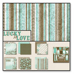 Black Market Paper Society - Lucky n Love - Paper Collection Pack, CLEARANCE