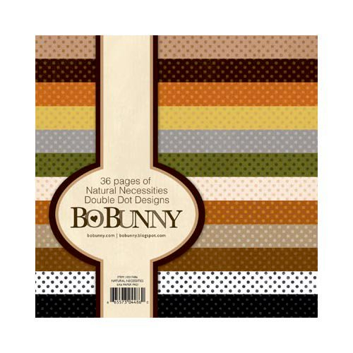 Bo Bunny - Double Dot Designs Collection - 6 x 6 Paper Pad - Natural Necessities