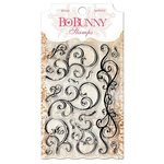 Bo Bunny - Clear Acrylic Stamps - Curly Q
