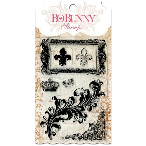 Bo Bunny - Essentials Collection - Clear Acrylic Stamp - Flourishes and Such