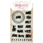Bo Bunny - Essentials Collection - Clear Acrylic Stamp - On This Day