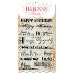 Bo Bunny - Essentials Collection - Clear Acrylic Stamp - Sentiments