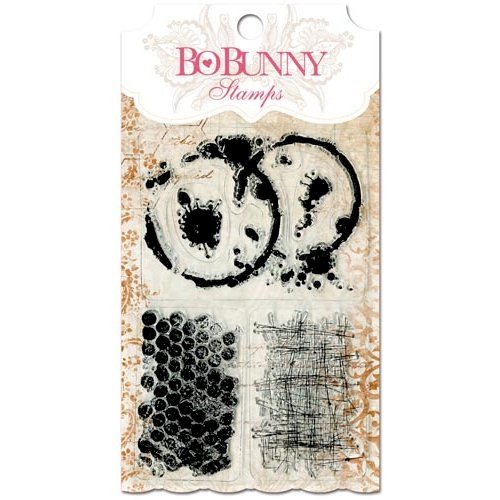 Bo Bunny - Essentials Collection - Clear Acrylic Stamp - Stained Textures