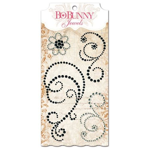 Bo Bunny - Essentials Collection - Bling - Jewels - Licorice