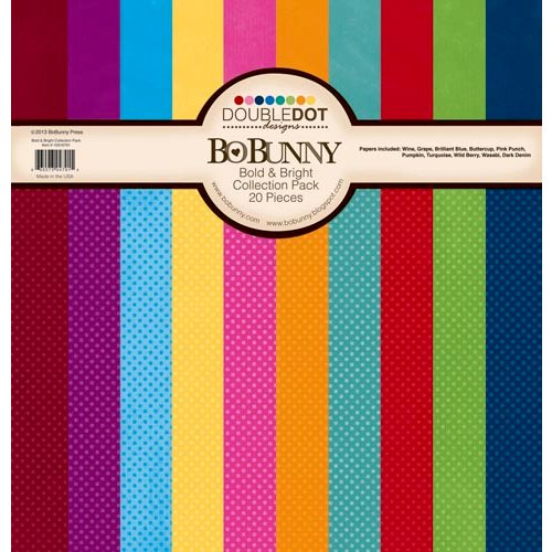 Bo Bunny - Double Dot Designs Collection - 12 x 12 Paper Pack - Bold and Bright