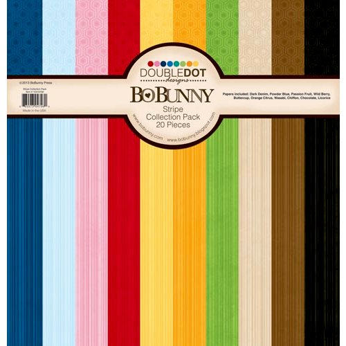 Bo Bunny - Double Dot Designs Collection - 12 x 12 Paper Pack - Stripes