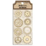 Bo Bunny - Kraft Collection - Stickers - Wood Gears