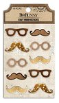 Bo Bunny - Kraft Collection - Stickers - Wood Mustaches
