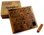 Bo Bunny - Kraft Collection - Wood Alphabet Stamp Set - Lower Case
