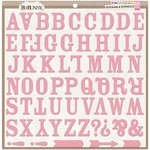 Bo Bunny - Stickable Stencils - Alphabet