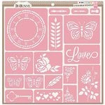 Bo Bunny - Stickable Stencils - Love