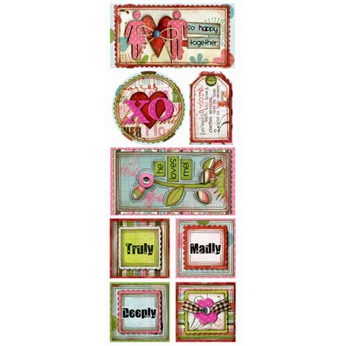 Bo Bunny Press - Persuasion Collection - Cardstock Stickers - Adore