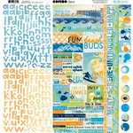 Bo Bunny Press - Barefoot and Bliss Collection - 12 x 12 Cardstock Stickers - Barefoot and Bliss Combo