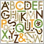 Bo Bunny Press - U Bug Me Collection - 12 x 12 Supersized Cardstock Stickers - U Bug Me Alphabet, CLEARANCE