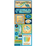 Bo Bunny - Barefoot and Bliss Collection - Cardstock Stickers - Back Yard Bliss