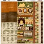 Bo Bunny - Camp-A-Lot Collection - 12 x 12 Cardstock Stickers - Combo