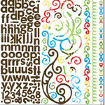 Bo Bunny Press - Calypso Collection - 12 x 12 Cardstock Stickers - Calypso Combo, CLEARANCE