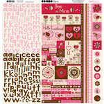 Bo Bunny - Crazy Love Collection - Valentine - 12 x 12 Cardstock Stickers - Crazy Love Combo
