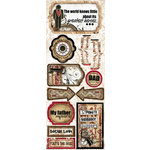 Bo Bunny - Timepiece Collection - Cardstock Stickers - Dad Knows Best