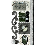 Bo Bunny Press - Unforgettable Collection - Cardstock Stickers - Enchanted Evening, CLEARANCE