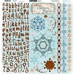 Bo Bunny Press - Snowfall Collection - 12 x 12 Cardstock Stickers - Combo