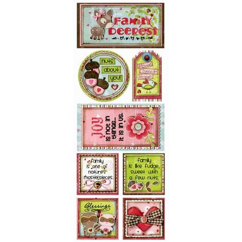 Bo Bunny Press - Love Bandit Collection - Cardstock Stickers - Family Deerest
