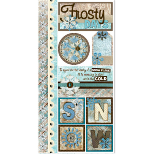 Bo Bunny Press - Winter Whisper Collection - Cardstock Stickers - Frosty Days