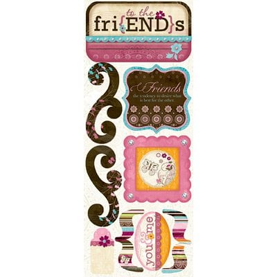 Bo Bunny Press - Sophie Collection - Cardstock Stickers - Friends To The End