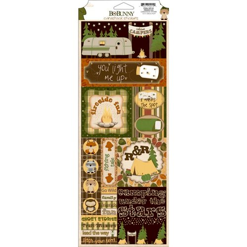 Bo Bunny - Camp-A-Lot Collection - Cardstock Stickers - Fireside Fun