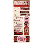 Bo Bunny Press - Crazy Love Collection - Valentine - Cardstock Stickers - Family Love
