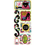 Bo Bunny Press - Petal Pushers Collection - Cardstock Stickers - It's A Girl Thing, CLEARANCE