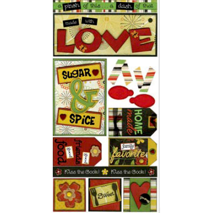 Bo Bunny Press - Splendor Collection - Cardstock Stickers - Home Cookin, CLEARANCE