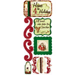 Bo Bunny Press - St. Nick Collection - Christmas - Cardstock Stickers - Home For The Holidays, CLEARANCE