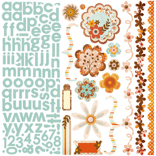 Bo Bunny Press - Kitchen Spice Collection - 12 x 12 Cardstock Stickers - Kitchen Spice Combo