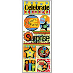 Bo Bunny Press - It's My Party Collection - Cardstock Stickers - Let's Party