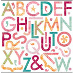 Bo Bunny Press - Love Shack Collection - 12 x 12 Supersized Cardstock Stickers - Love Shack Alphabet, CLEARANCE