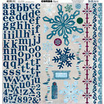 Bo Bunny Press - Midnight Frost Collection - Christmas - 12 x 12 Cardstock Stickers - Midnight Frost Combo, BRAND NEW
