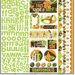 Bo Bunny Press - Mango Luau Collection - 12 x 12 Cardstock Stickers - Mango Luau Combo