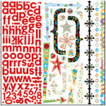 Bo Bunny Press - It's My Party Collection - 12 x 12 Cardstock Stickers - It's My Party Combo