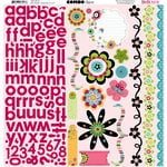 Bo Bunny Press - Petal Pushers Collection - 12 x 12 Cardstock Stickers - Petal Pushers Combo