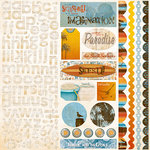 Bo Bunny Press - Paradise Collection - 12 x 12 Cardstock Stickers - Paradise Combo, BRAND NEW